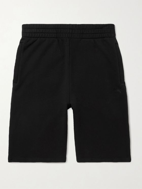 MAISON KITSUNÉ Logo-Embroidered Cotton-Jersey Shorts