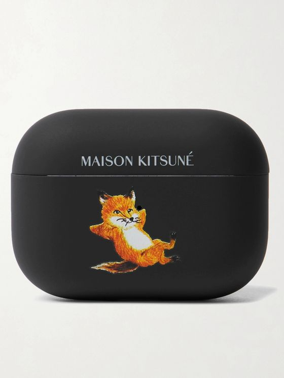 MAISON KITSUNÉ + Native Union Logo-Print PVC-Blend AirPods Pro Case