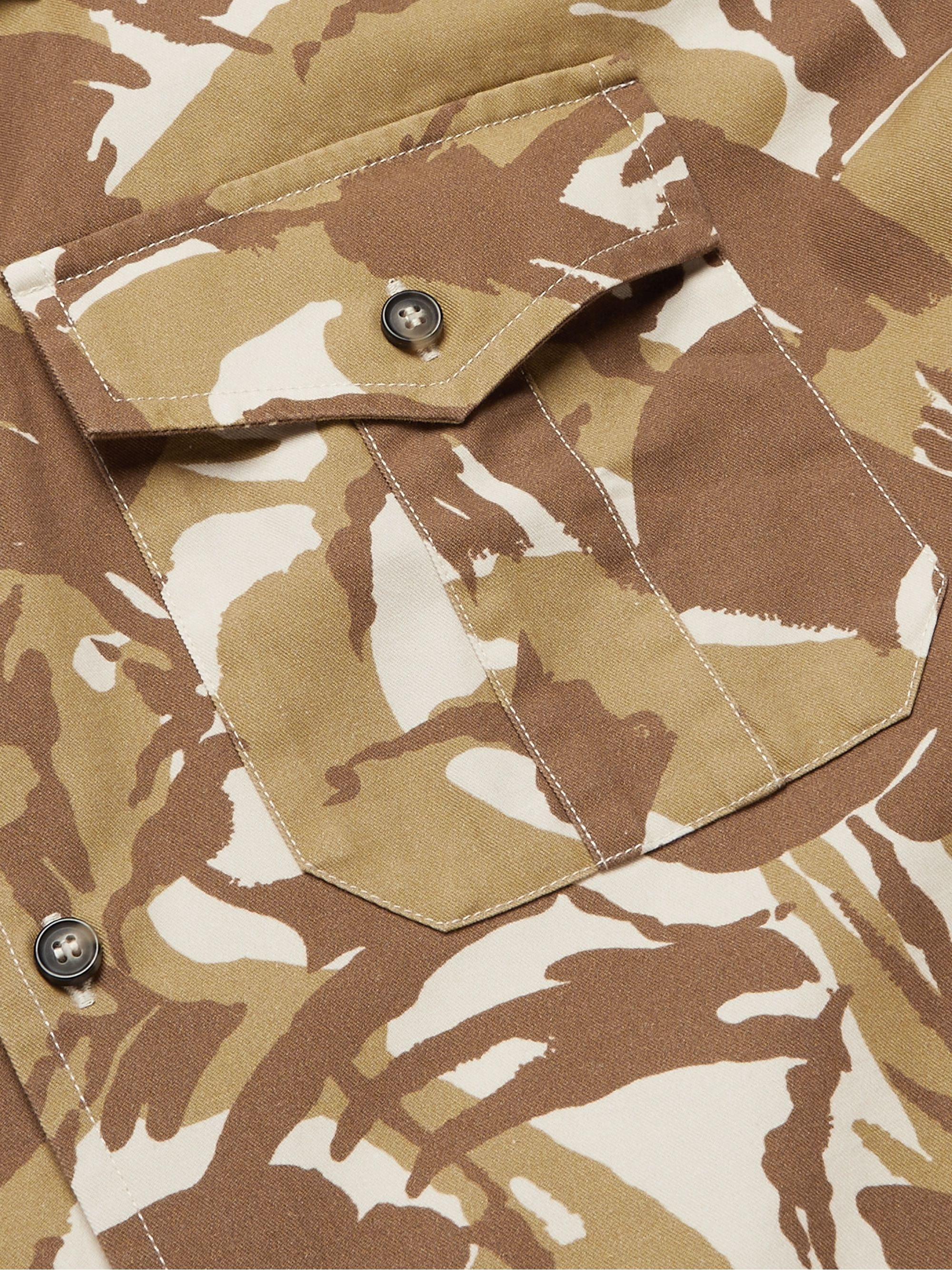 A.P.C. Joey Camouflage-Print Cotton-Twill Shirt