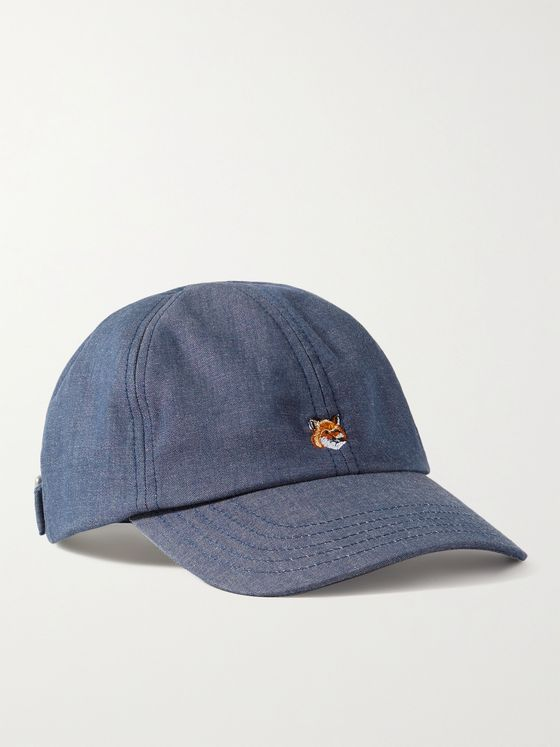 MAISON KITSUNÉ Logo-Embroidered Cotton-Blend Baseball Cap