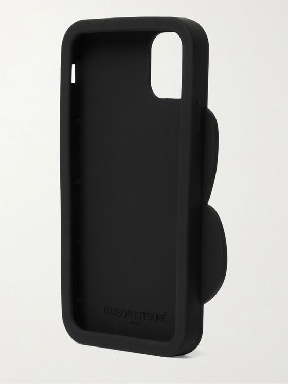 MAISON KITSUNÉ Logo-Debossed Silicone iPhone 11 Pro Phone Case