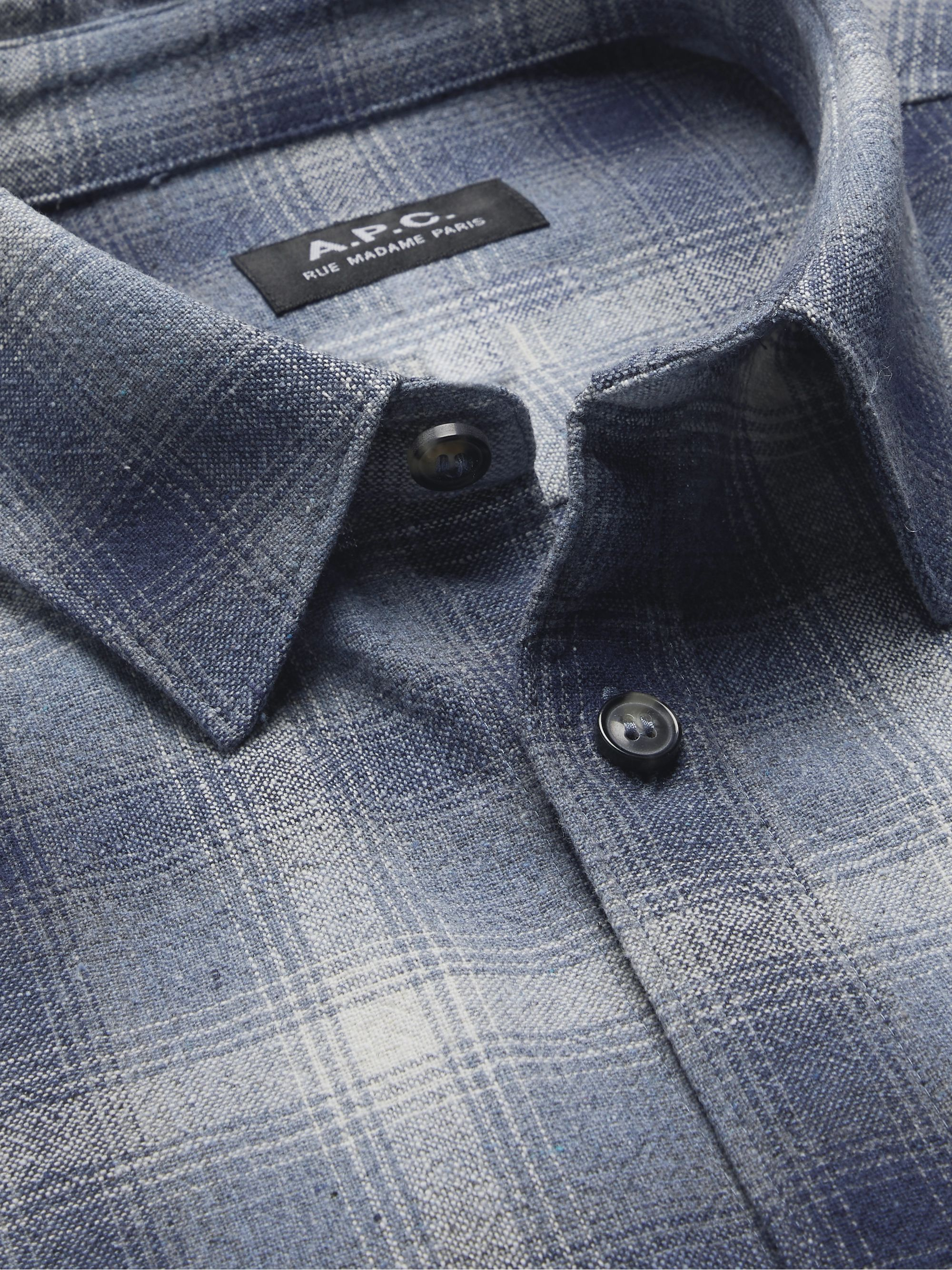 A.P.C. Trek Checked Recycled Cotton-Blend Shirt