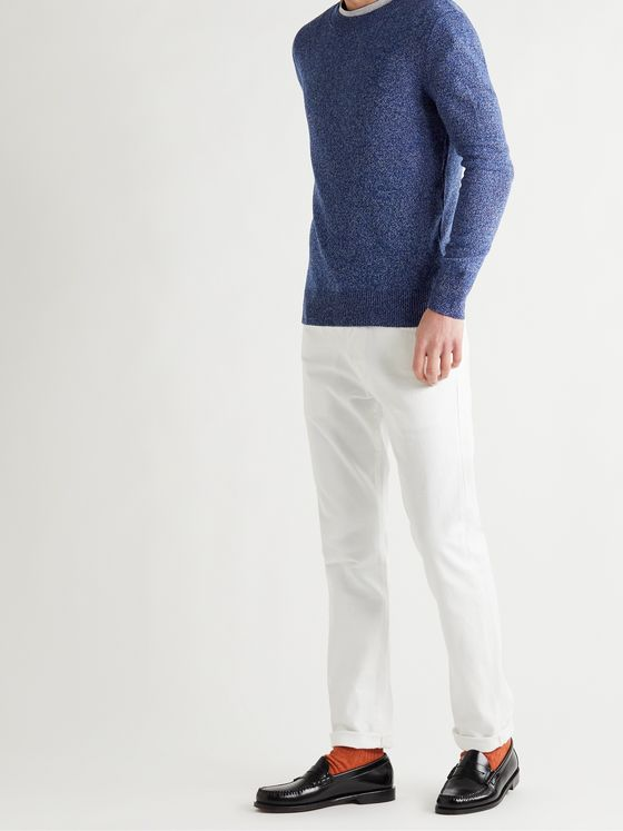 A.P.C. Ivan Slim-Fit Mouliné Wool and Cotton-Blend Sweater