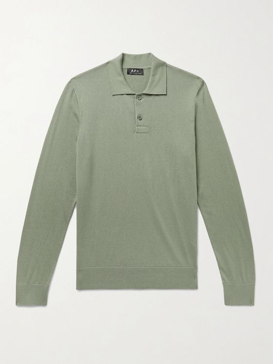 A.P.C. Aymar Slim-Fit Cotton and Cashmere-Blend Polo Shirt