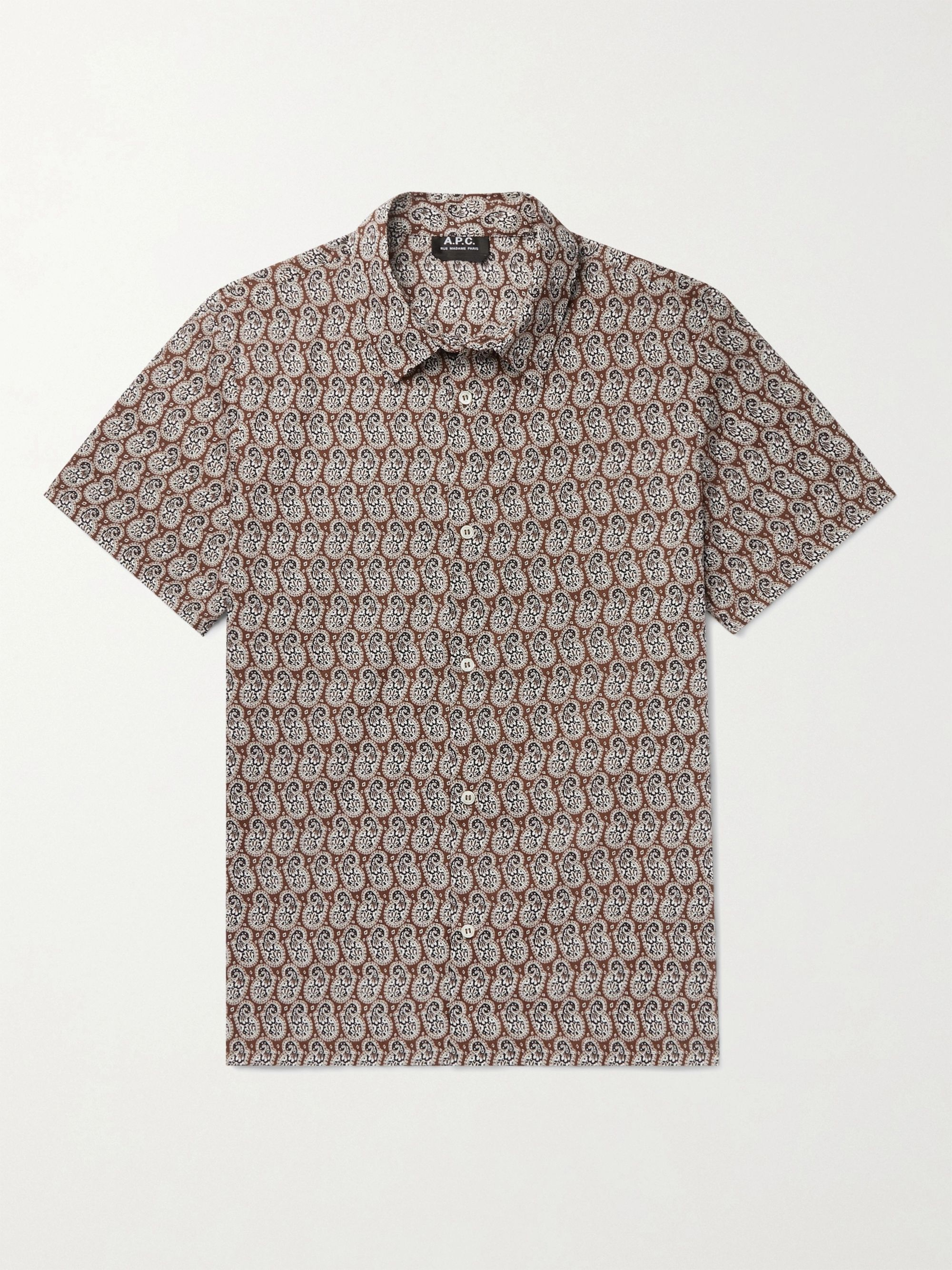 A.P.C. Leandre Printed Cotton Shirt