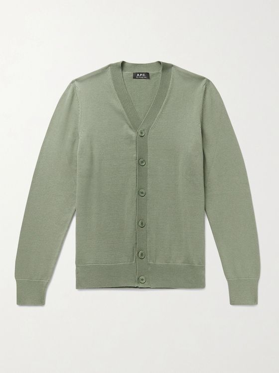 A.P.C. Joseph Cotton and Cashmere-Blend Cardigan