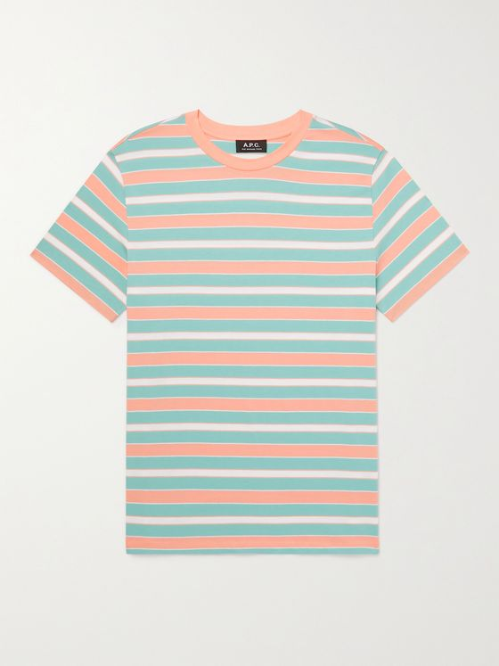 A.P.C. Gio Striped Pima Cotton-Jersey T-Shirt