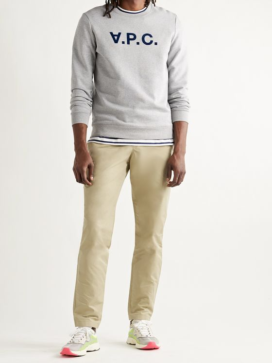 A.P.C. New Kaplan Cotton-Blend Gabardine Drawstring Trousers