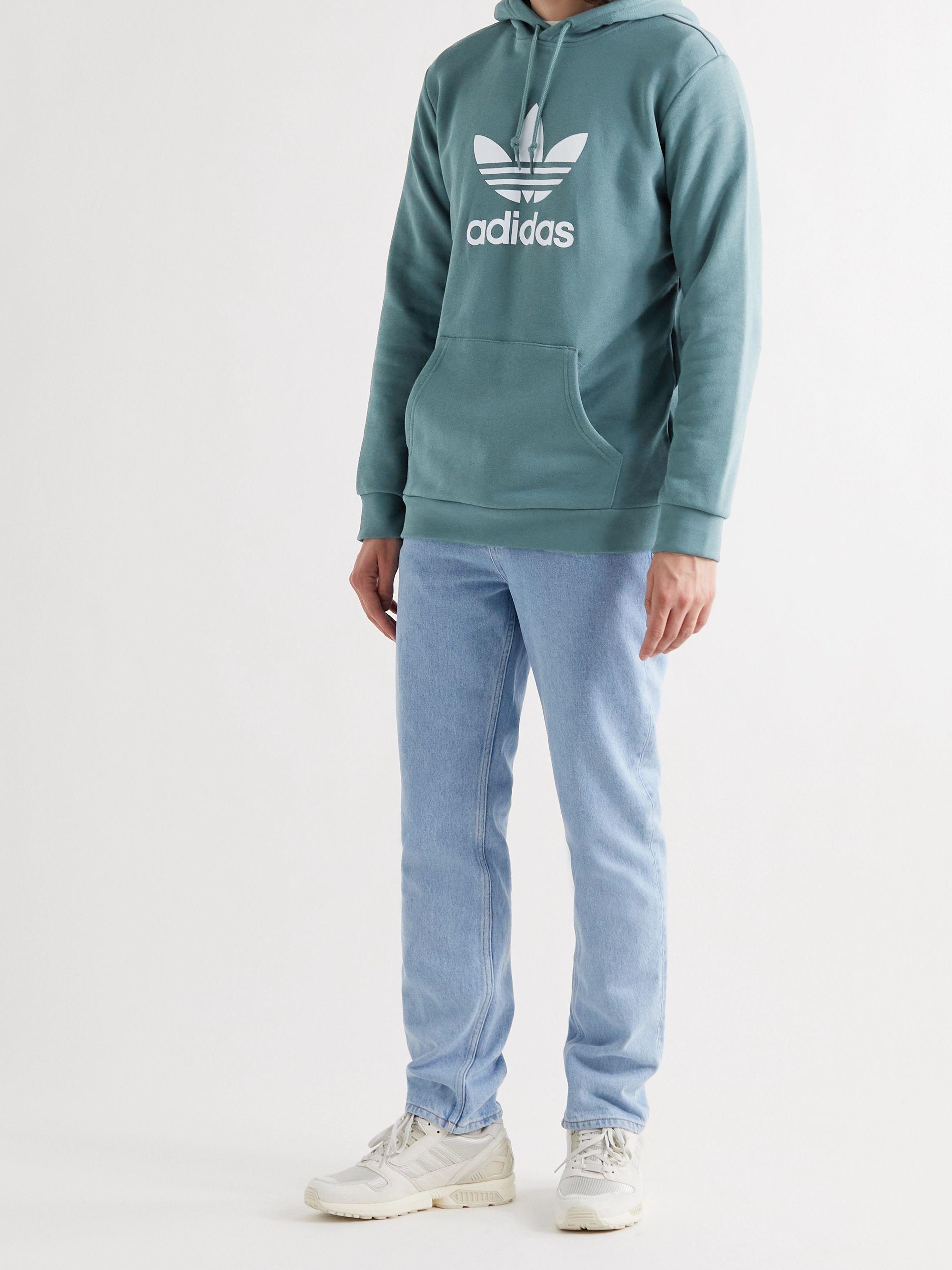 Green Logo-Print Cotton-Jersey Hoodie   ADIDAS ORIGINALS   MR PORTER