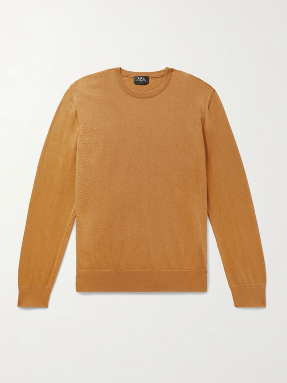 A.P.C. Julien Slim-Fit Cotton and Cashmere-Blend Sweater