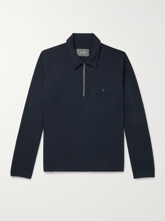 NORSE PROJECTS Jorn Recycled Polartec Fleece Half-Zip Sweatshirt