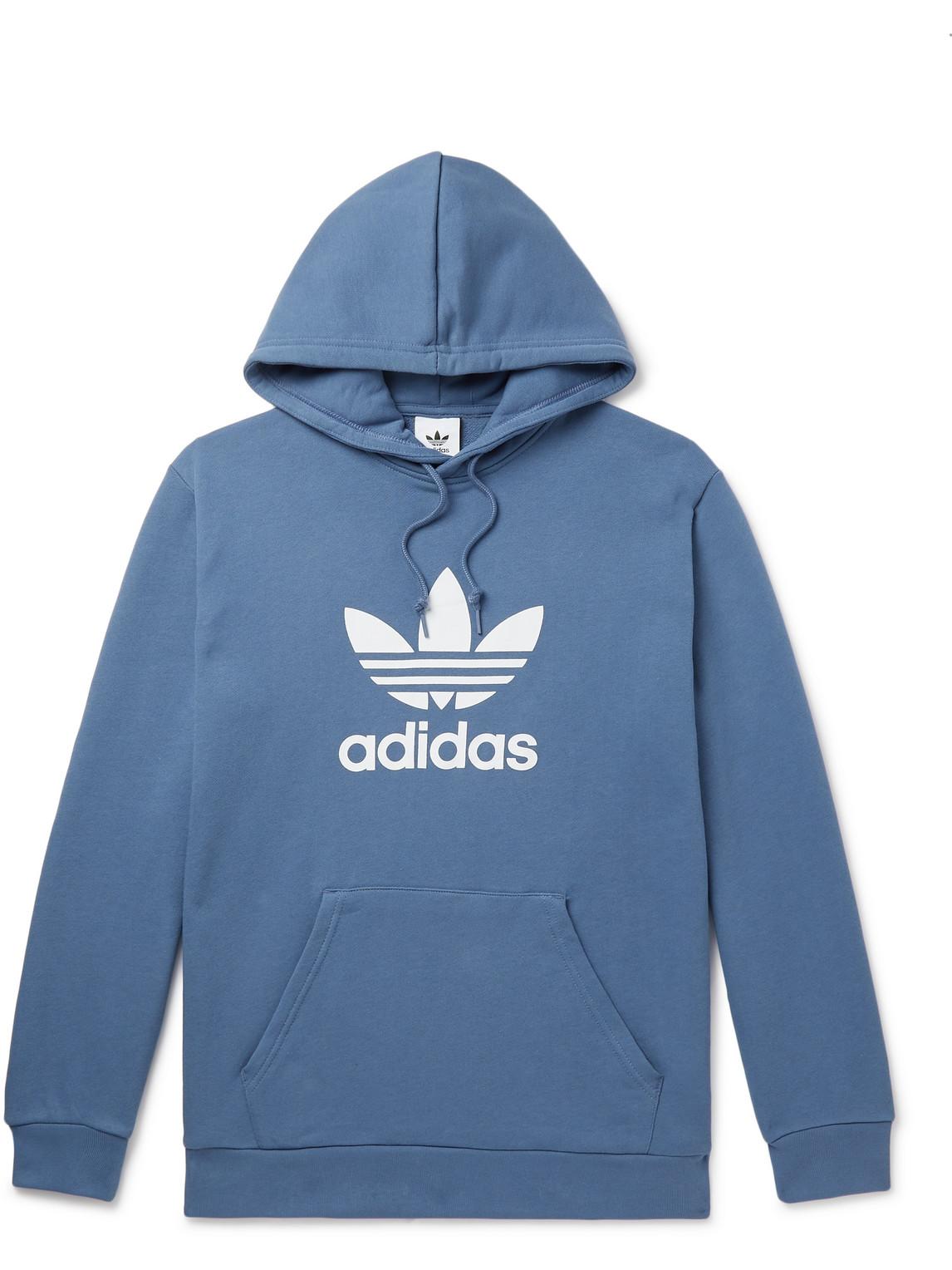 Adidas Originals Logo-print Cotton-jersey Hoodie In White | ModeSens