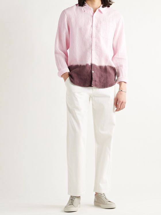 JAMES PERSE Dip-Dyed Slub Linen Shirt