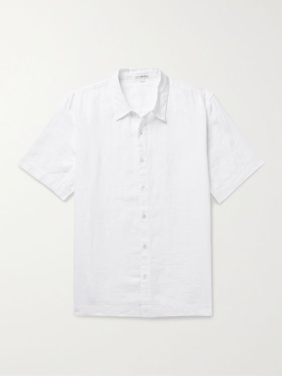 JAMES PERSE Slub Linen Shirt