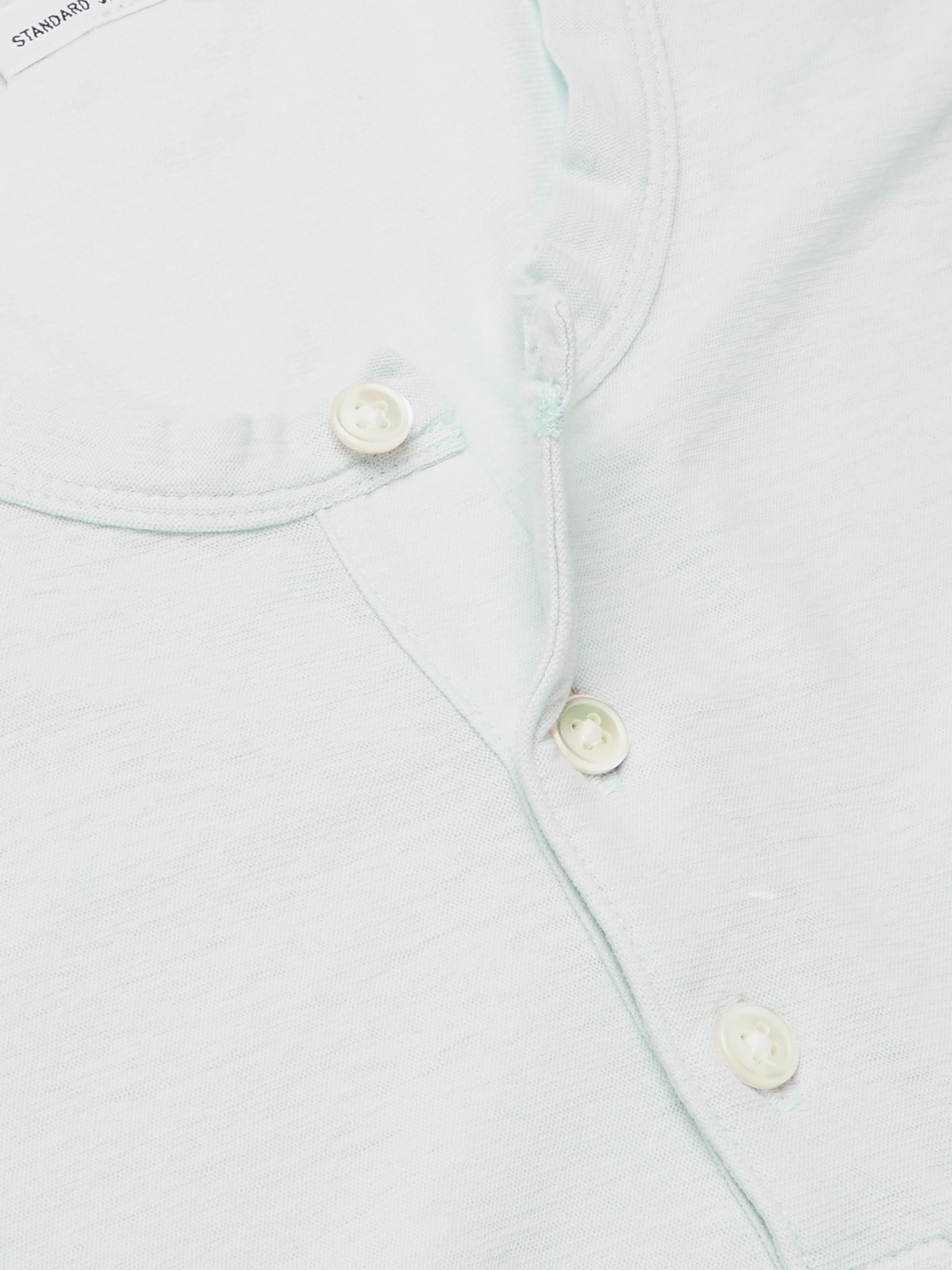 JAMES PERSE Cotton and Linen-Blend Henley T-Shirt
