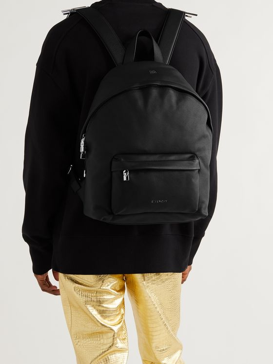 GIVENCHY Embellished Full-Grain Leather Backpack