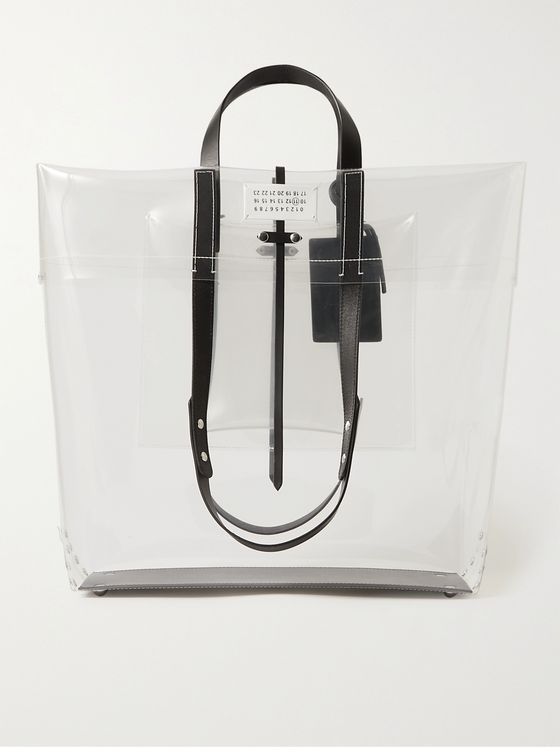 MAISON MARGIELA Leather-Trimmed PVC Tote Bag