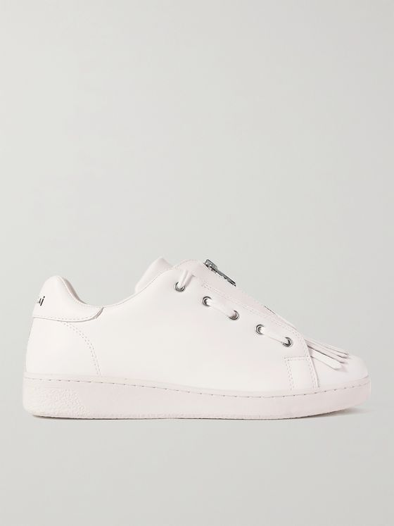 A.P.C. + Sacai Julietta Fringed Leather Sneakers