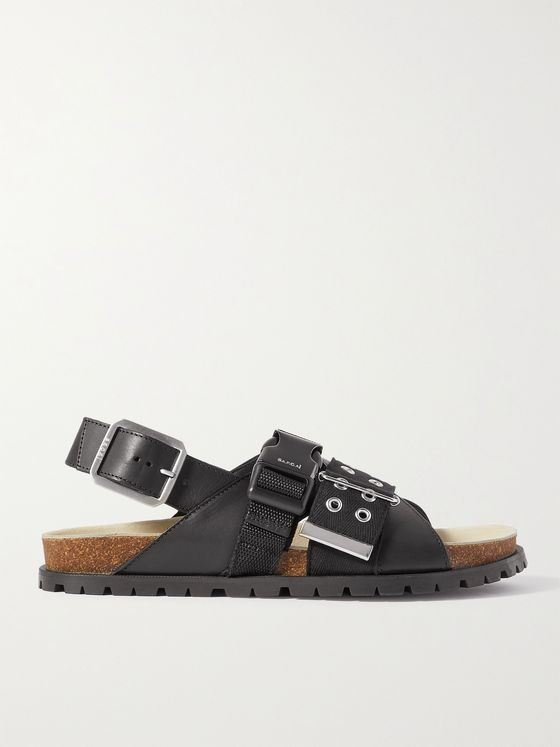 A.P.C. + Sacai Jules Leather Sandals