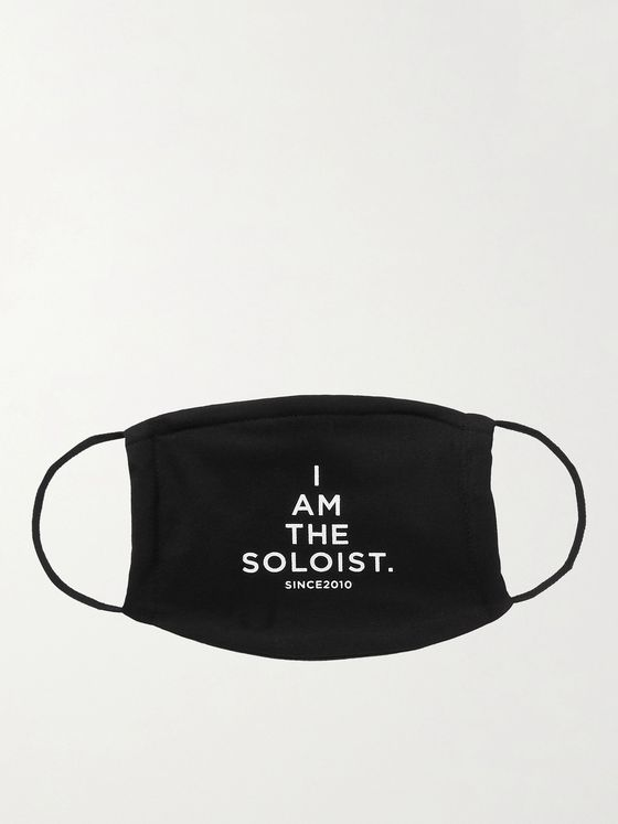 TAKAHIROMIYASHITA TheSoloist. Logo-Print Cotton Face Mask