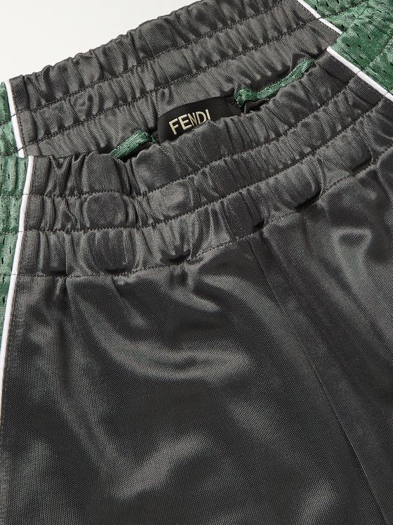 FENDI Panelled Mesh and Jersey Shorts