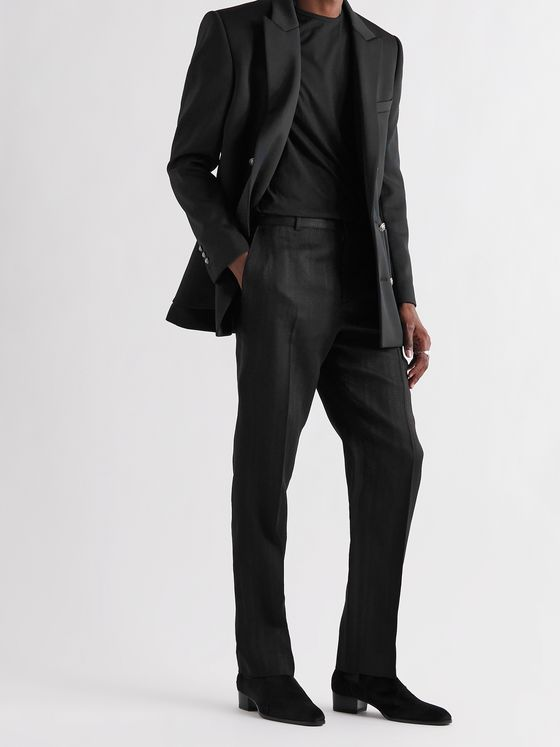 BALMAIN Double-Breasted Jersey Blazer