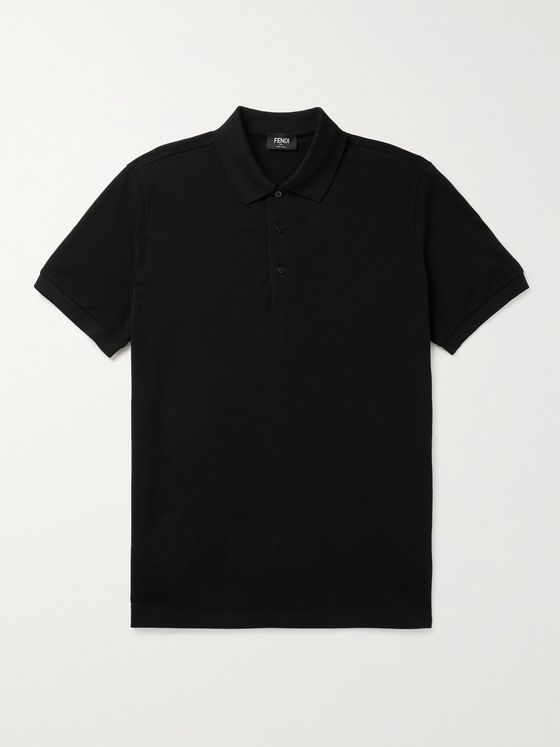FENDI Cotton-Piqué Polo Shirt