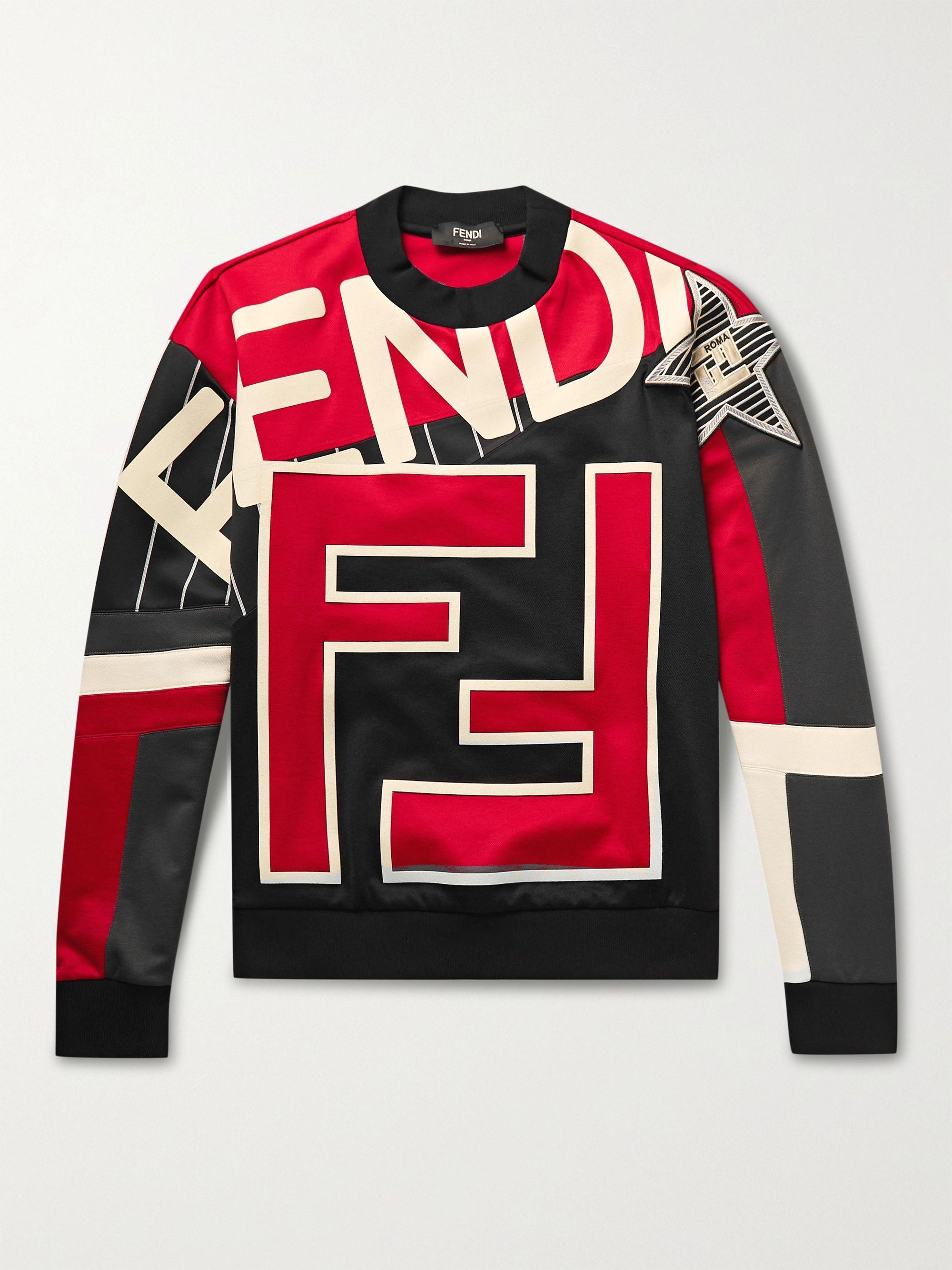 FENDI Appliqued Jersey Sweatshirt
