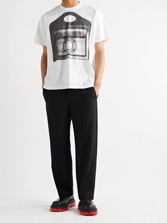 BURBERRY Printed Cotton-Jersey T-Shirt