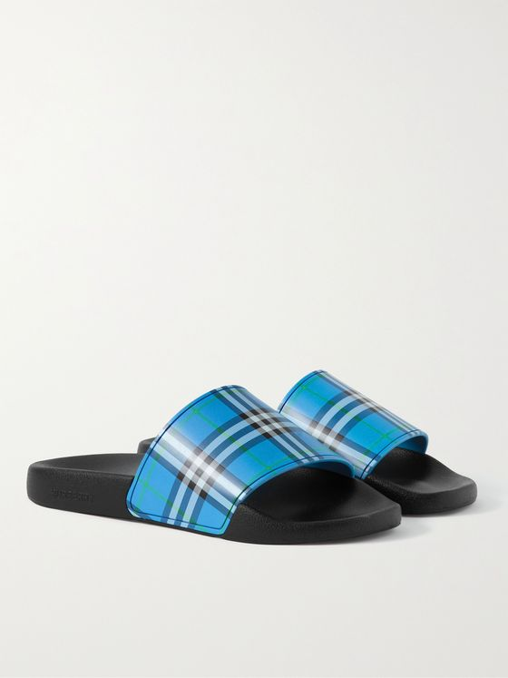 BURBERRY Checked Rubber Slides