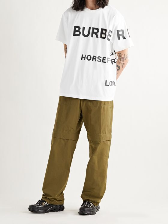 BURBERRY Oversized Logo-Print Cotton-Jersey T-Shirt