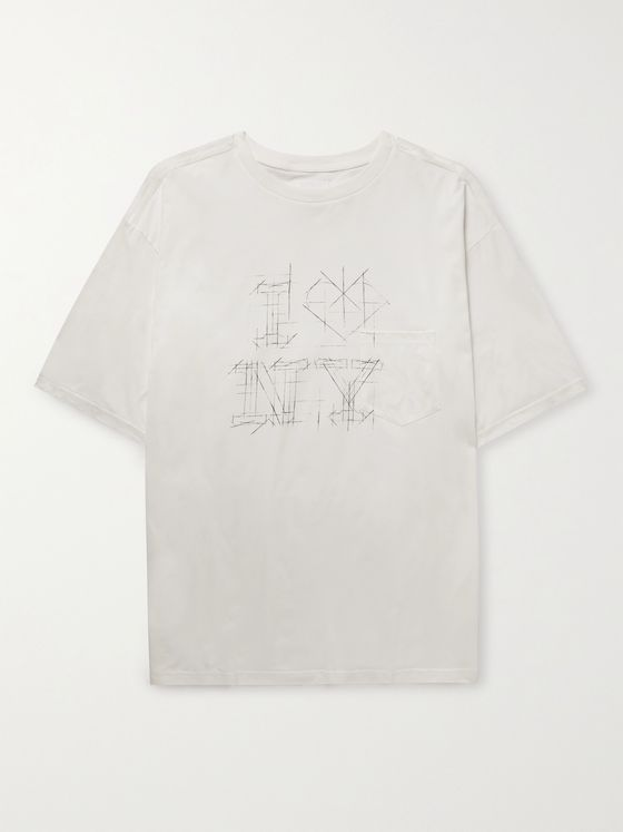 TAKAHIROMIYASHITA TheSoloist. Oversized Printed Cotton-Jersey T-Shirt