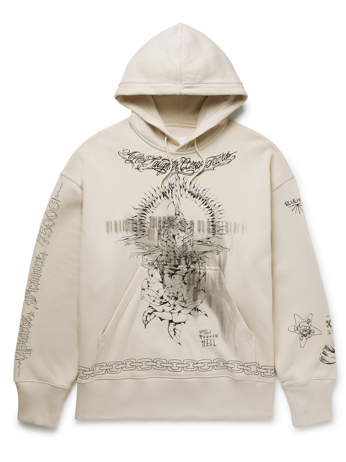Givenchy Cottons OVERSIZED PRINTED COTTON-JERSEY HOODIE