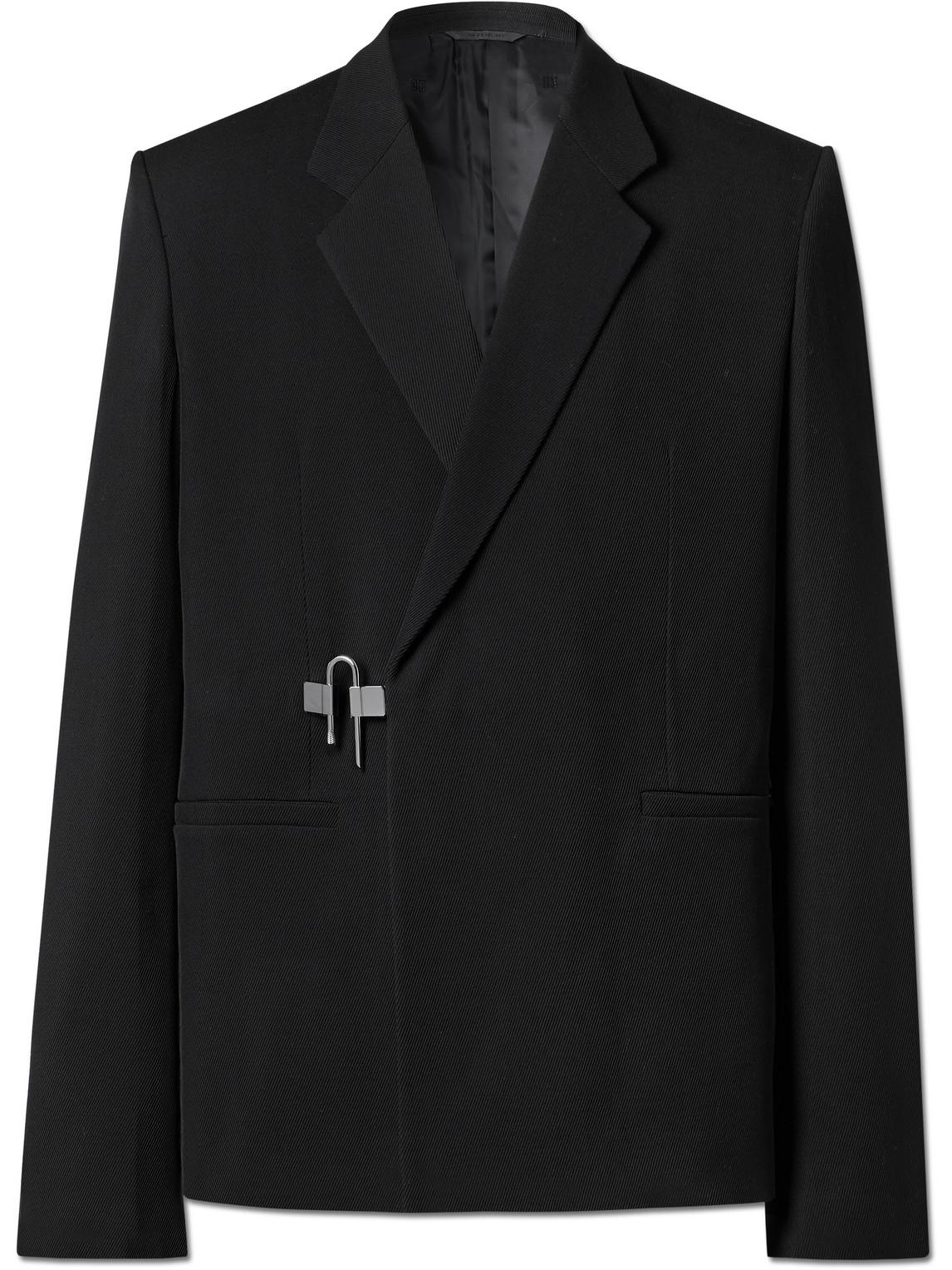 Givenchy Wools EMBELLISHED VIRGIN WOOL-TWILL BLAZER