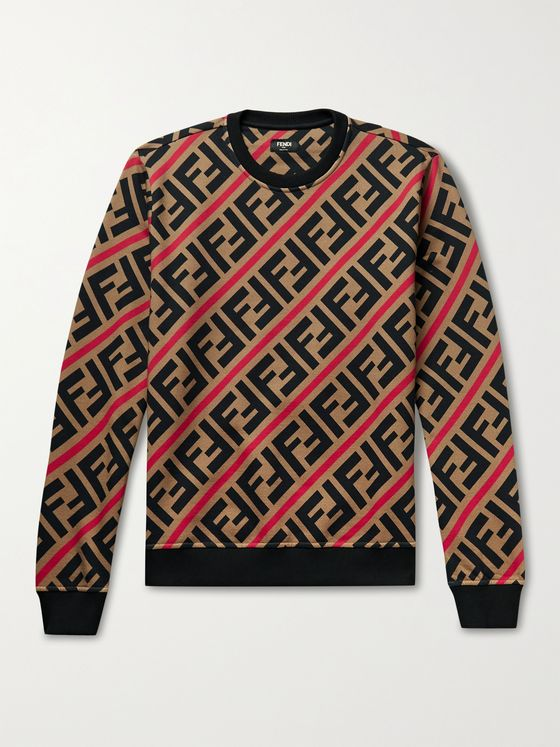 FENDI Logo-Print Fleece-Back Cotton-Jersey Sweatshirt