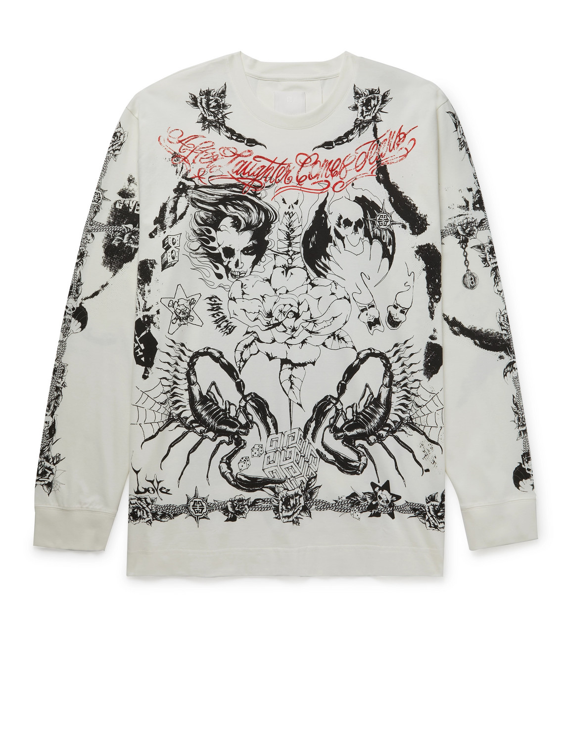 Givenchy Cottons PRINTED COTTON-JERSEY T-SHIRT