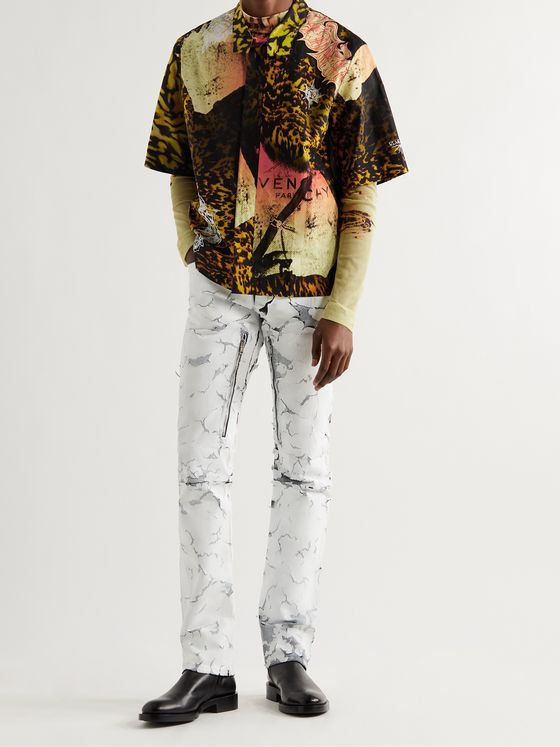 GIVENCHY Camp-Collar Printed Cotton-Poplin Shirt