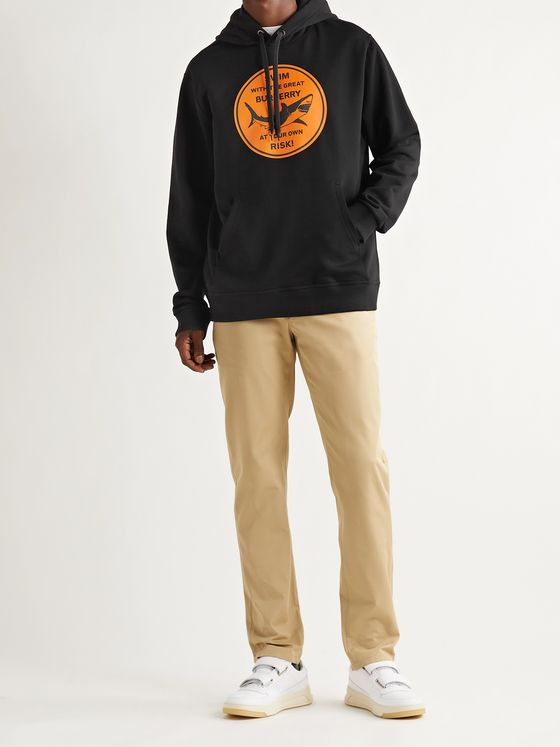 BURBERRY Printed Loopback Cotton-Jersey Hoodie