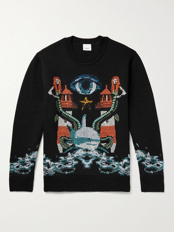 BURBERRY Wool-Jacquard Sweater