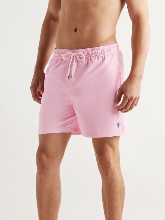POLO RALPH LAUREN Traveller Mid-Length Logo-Embroidered Swim Shorts
