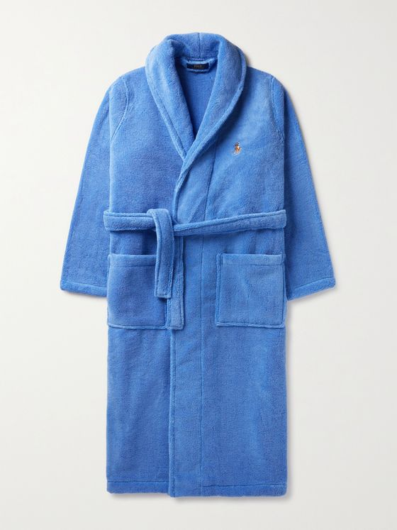 POLO RALPH LAUREN Logo-Embroidered Cotton-Terry Robe