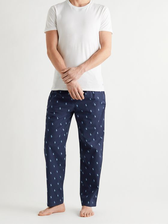 POLO RALPH LAUREN Logo-Print Cotton Pyjama Trousers