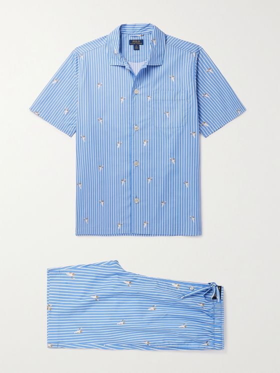 POLO RALPH LAUREN Printed Cotton-Poplin Pyjama Set