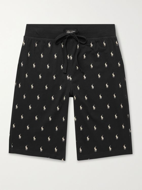 POLO RALPH LAUREN Logo-Print Cotton-Jersey Pyjama Shorts