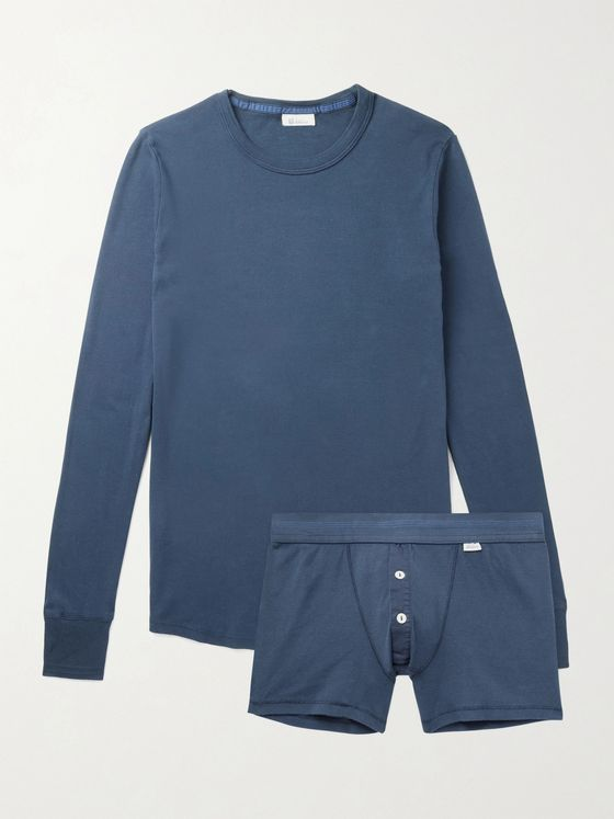SCHIESSER Karl Heinz Two-Piece Cotton-Jersey Set