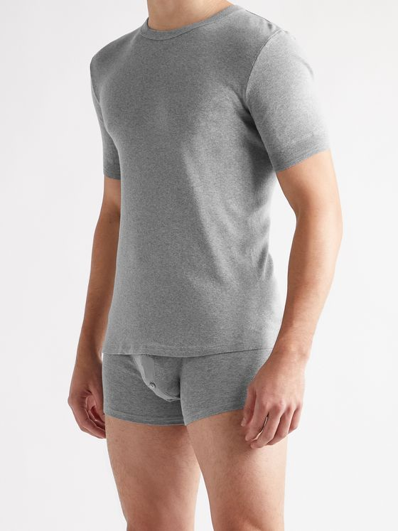SCHIESSER Karl Heinz Cotton-Jersey T-Shirt and Boxer Briefs Set