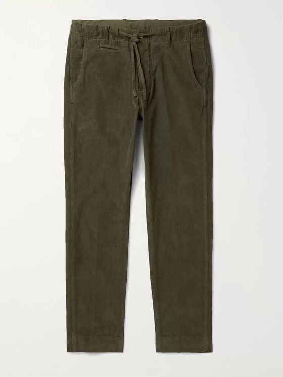 MAN 1924 Tomi Slim-Fit Tapered Cotton-Corduroy Drawstring Trousers