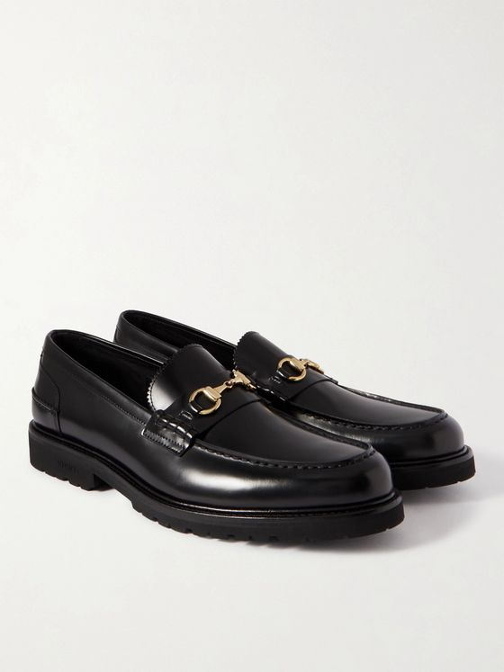 VINNY'S Le Club Horsebit Leather Loafers