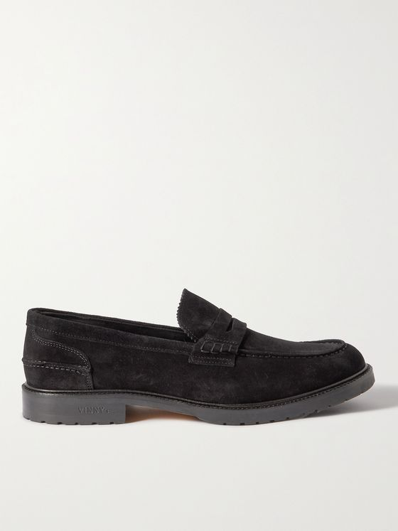 VINNY'S Grand Townee Suede Penny Loafers