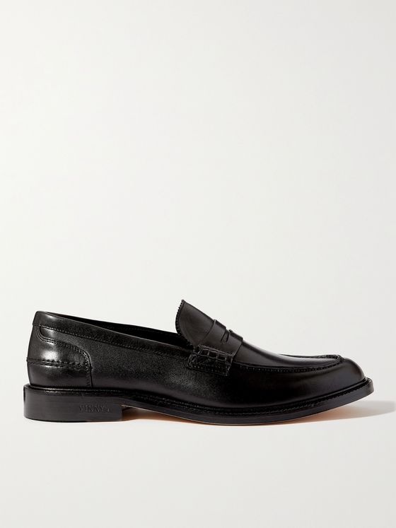 VINNY'S Townee Leather Penny Loafers